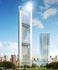 【写真3】AGRIMECO社が建設中の超高層鉄骨ビル(高さ363m)の完成予想図