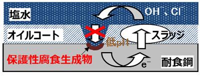 【図2】JFE-SIP®-OT1の耐食機構