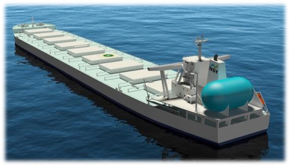 【鉄鋼原料輸送用大型LNG燃料船 イメージ図】